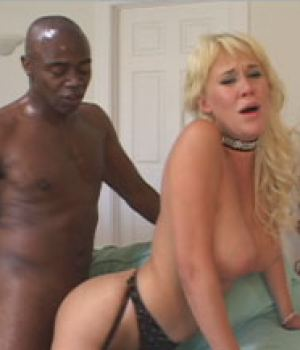 Blonde busty wife craving for big black cock and approved by her husband