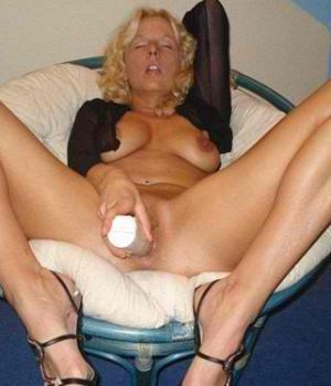 Blonde MILF Fucking Herself With A Huge Toy