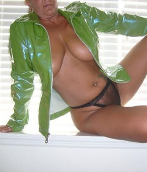 Blonde Mom In Jacket Showing Her Tits