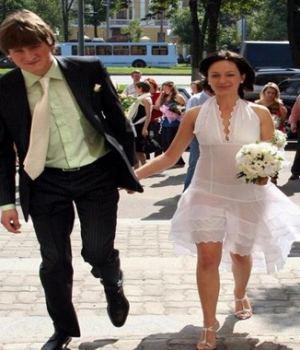 Bride Wearing A See Through Dress
