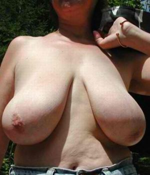 Huge hanging boob tube