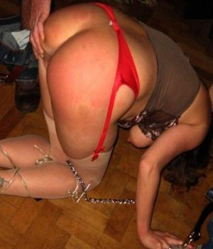 Chained MILF Got Her Ass Cheeks Spreads