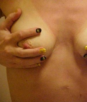 Cupping Her Tits And She Was Easily Aroused