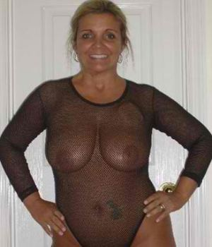 Grandma In Mesh Shirt So Hot To Hold