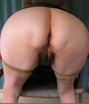 Horny MILF Bending Over With Her Hairy Holes