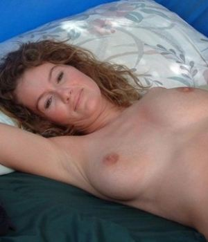 Hot Busty Mom Lying In Bed Topless