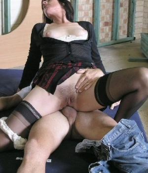 Hot MILF riding cock for anal sex