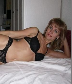 Hot Mom In Black Lingerie
