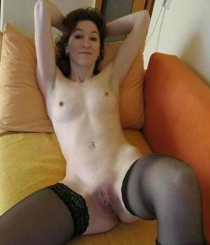 Hot Skinny Mom in Black Stockings