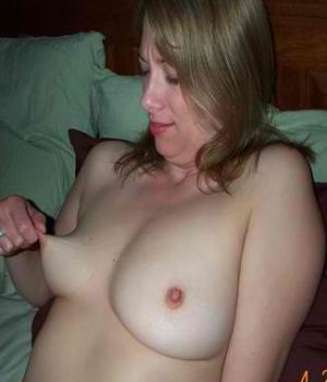 Hot Wife Pinching Her Nipples