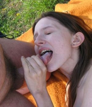 Hungry MILF Sucking Dick Outdoor