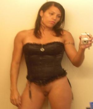 Latina Girlfriend Camwhoring While Wearing Corset