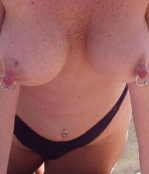 Pierced Nipples From A Hot Mom