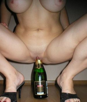 She Is Masturbating With Bottle