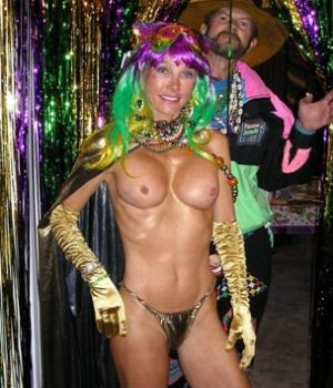 Skinny Milf With Fake Tits Gone Wild For The Halloween