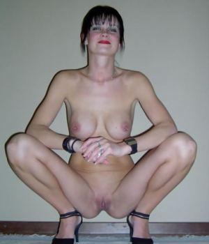 Skinny MILF with Pierced Nipples