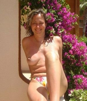 Topless Mom In Her Own Backyard